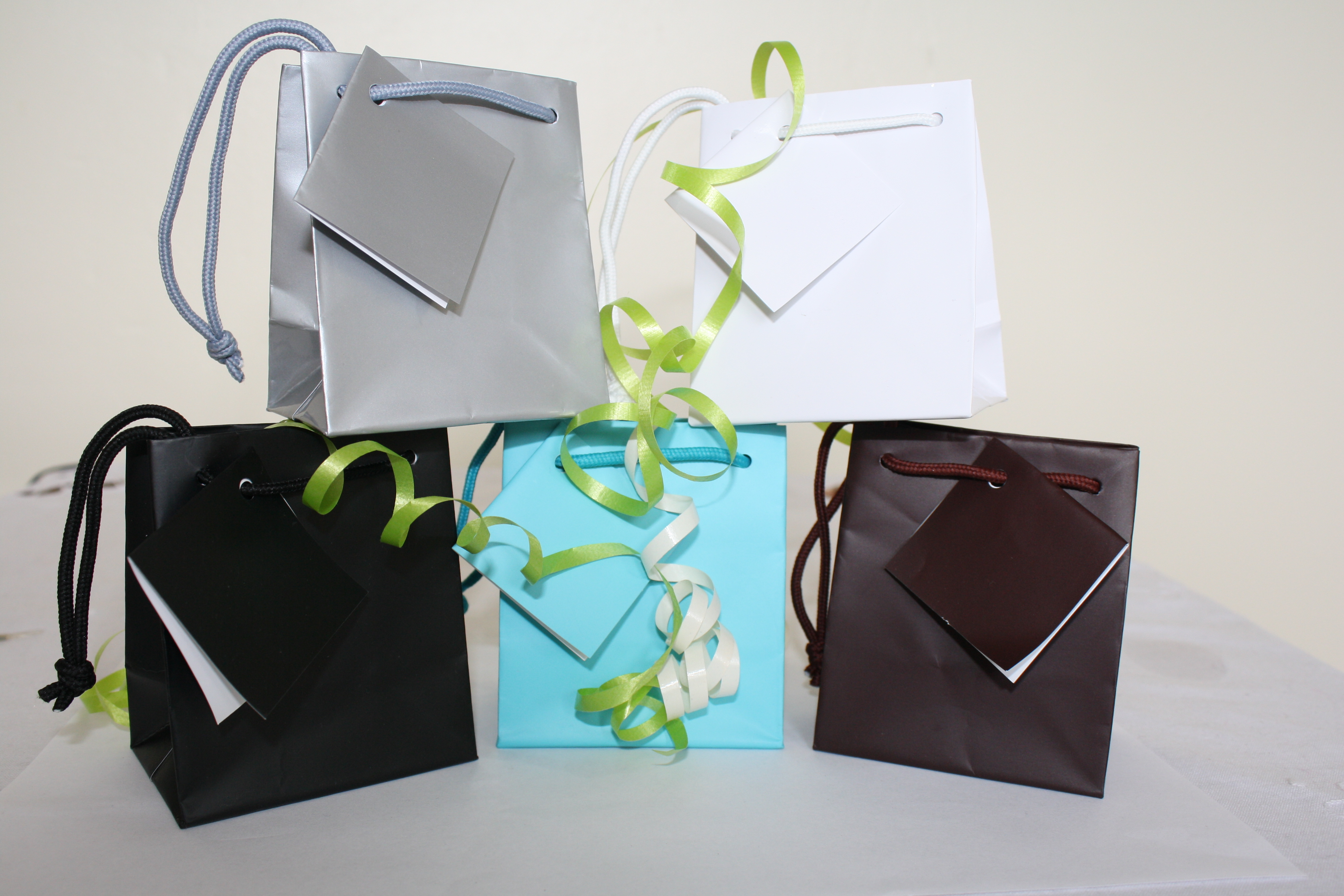Small Gift Bags With Tag And Rope Handle