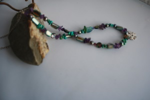 sea blue shell necklace
