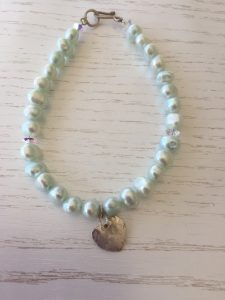 pearl mint green bracelet